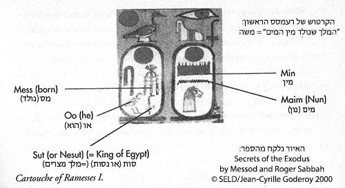 הקרטוש של רעמסס הראשון, הידוע בתורה כמשה