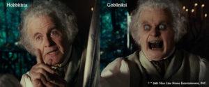 Lord of the rings elokuvassa esitetty pimeä ja valoisa miestä.