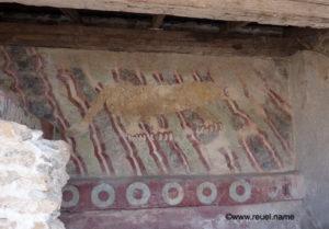 Maalaus Puma tempelin seinämällä Meksikossa