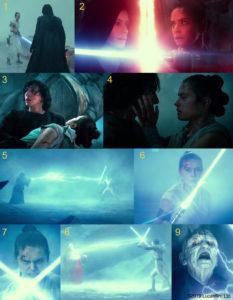 Pimeä ja valoissa soturi kuten esitetään elokuvassa tähtien sota Skywalkerin nousu.